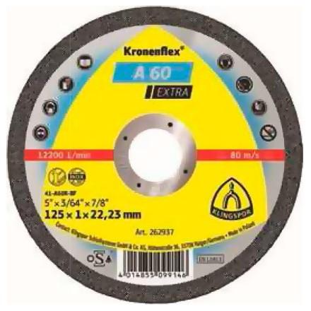 """DISCO CORTE 4.1/2"""" 1mm A60 EXTRA KLINGSPOR"""